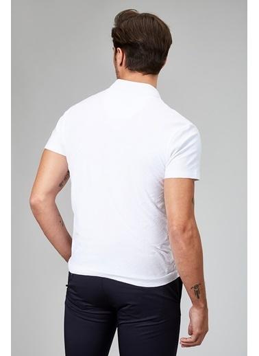 Avva Polo Yaka Tişört Beyaz